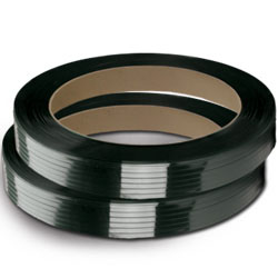 "POLYESTER PLASTIC STRAPPING 1/2"" X .025"" BLACK 16x3 CORE"
