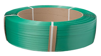 "POLYESTER PLASTIC STRAPPING 5/8"" x .035"" GREEN 4,000/FT"