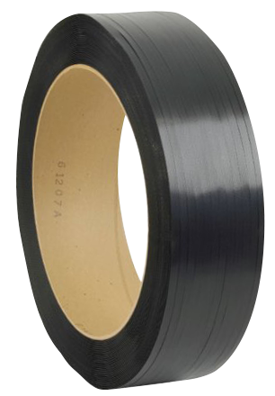 "POLYESTER PLASTIC STRAPPING 5/8"" .020 16x6 BLACK"
