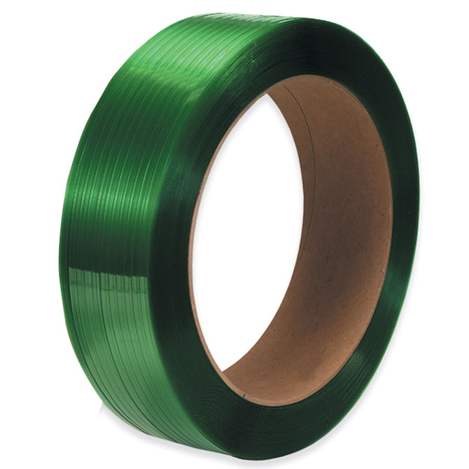 "POLYESTER PLASTIC STRAPPING 1/2"" X .020"" GREEN 16x6 CORE"